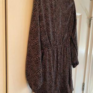 Express Dresses - Black, red, white polka dot dress